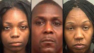 Louise Parker, Samuel Williams and Antaneile Lovett all were arrested while trying to steal merchandise from a Best Buy store in Boynton Beach on Tuesday, police said.