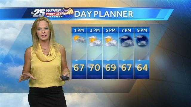 Sandra says Thursday afternoon will be cool but mostly dry.
