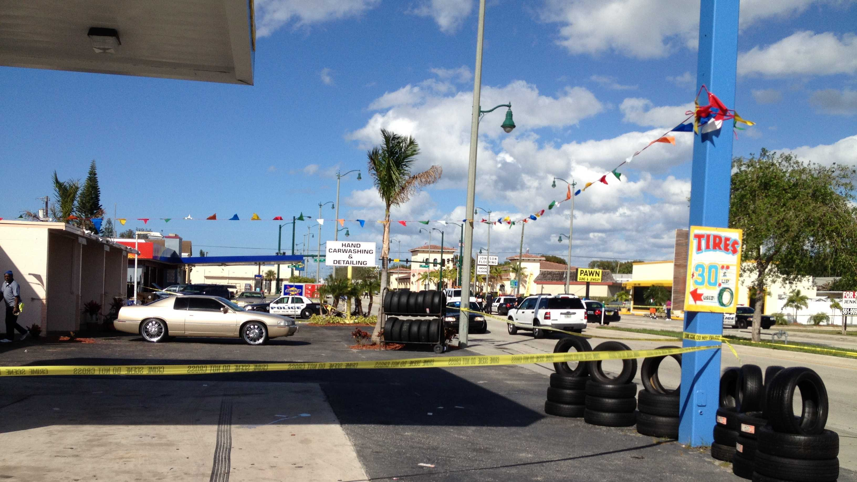 Police are investigating a shooting in West Palm Beach.