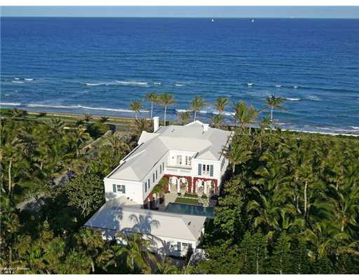 Aerial view of the 10,000 square foot property.