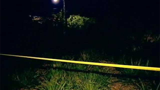 Human remains were found behind a church in Lake Worth on Tuesday.