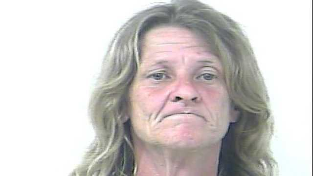 Rhonda Lyons is accused of spitting on the police officer who tried to arrest her for disorderly intoxication.