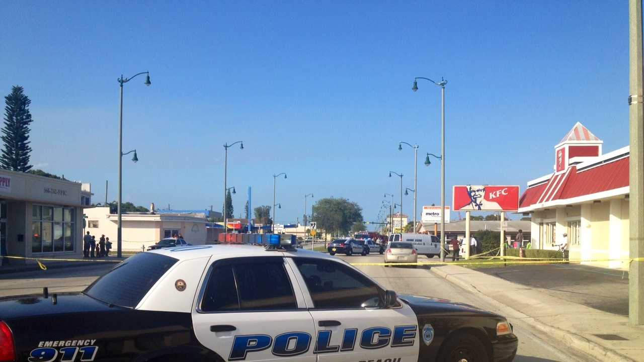 Police in West Palm Beach are investigating a shooting near Broadway and 48th Street.