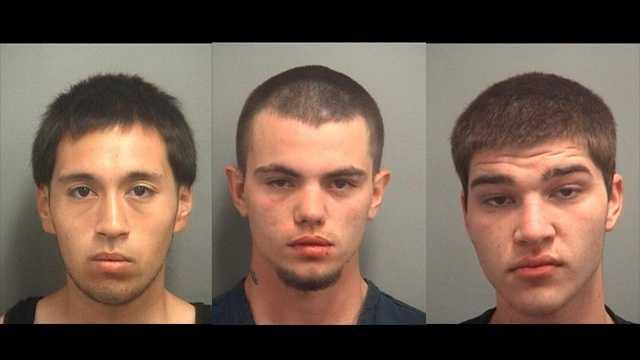 Jason Morales, Steven Brown and Edward Martens were arrested.