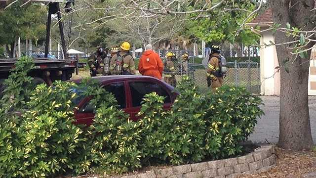 A worker digging in Palm Beach Gardens struck a line and caused  gas leak Wednesday afternoon. (Photo: Randy Gyllenhaal/WPBF)