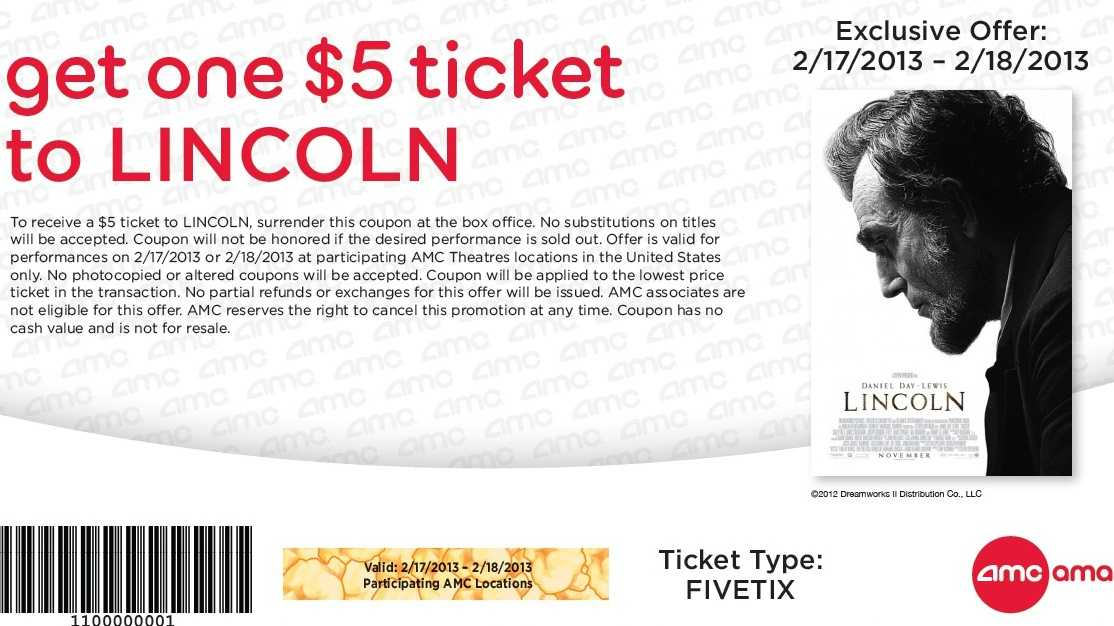 Lincoln coupon