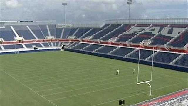 Two years after its opening, Florida Atlantic University's on-campus stadium is renamed GEO Group Stadium.
