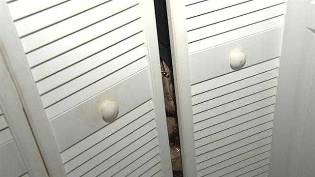 Woman hid in closet