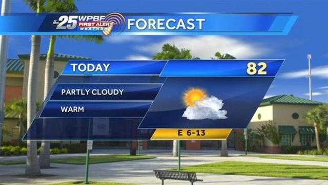 Sandra says a warm and humid weekend is on tap around the Palm Beaches.