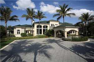 The property features a 10 car garage.
