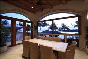 Amazing views from the breakfast nook, overlooking the water.