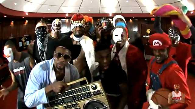 "The Miami Heat put together a pretty solid rendition of ""The Harlem Shake."" (Photo: Youtube screengrab)"