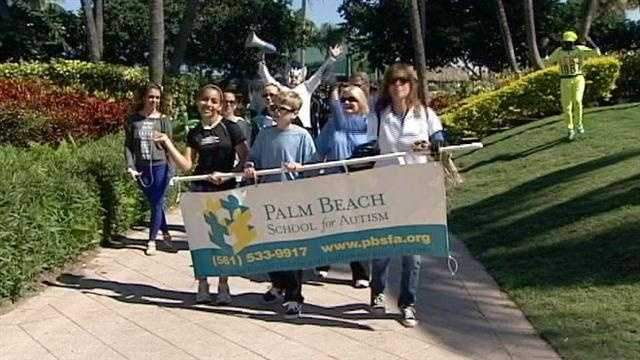 Thousands gathered in West Palm Beach Sunday to support Autism Speaks.