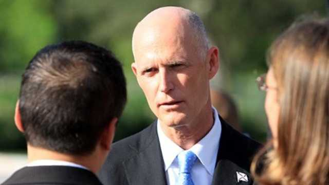 Florida Gov. Rick Scott is expected in St. Lucie County on Tuesday.