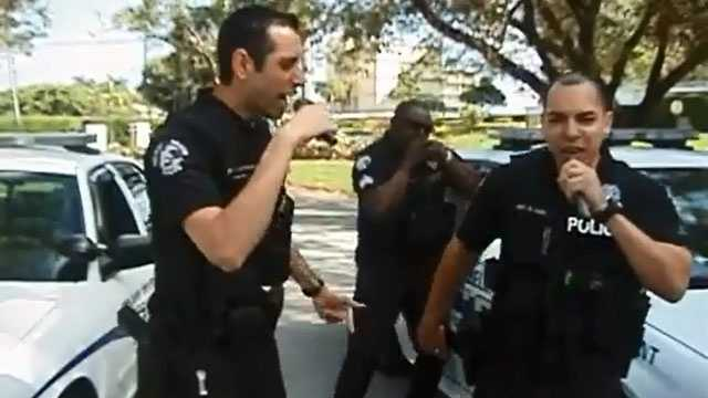 These Delray Beach police officers are dropping lyrics with a message.