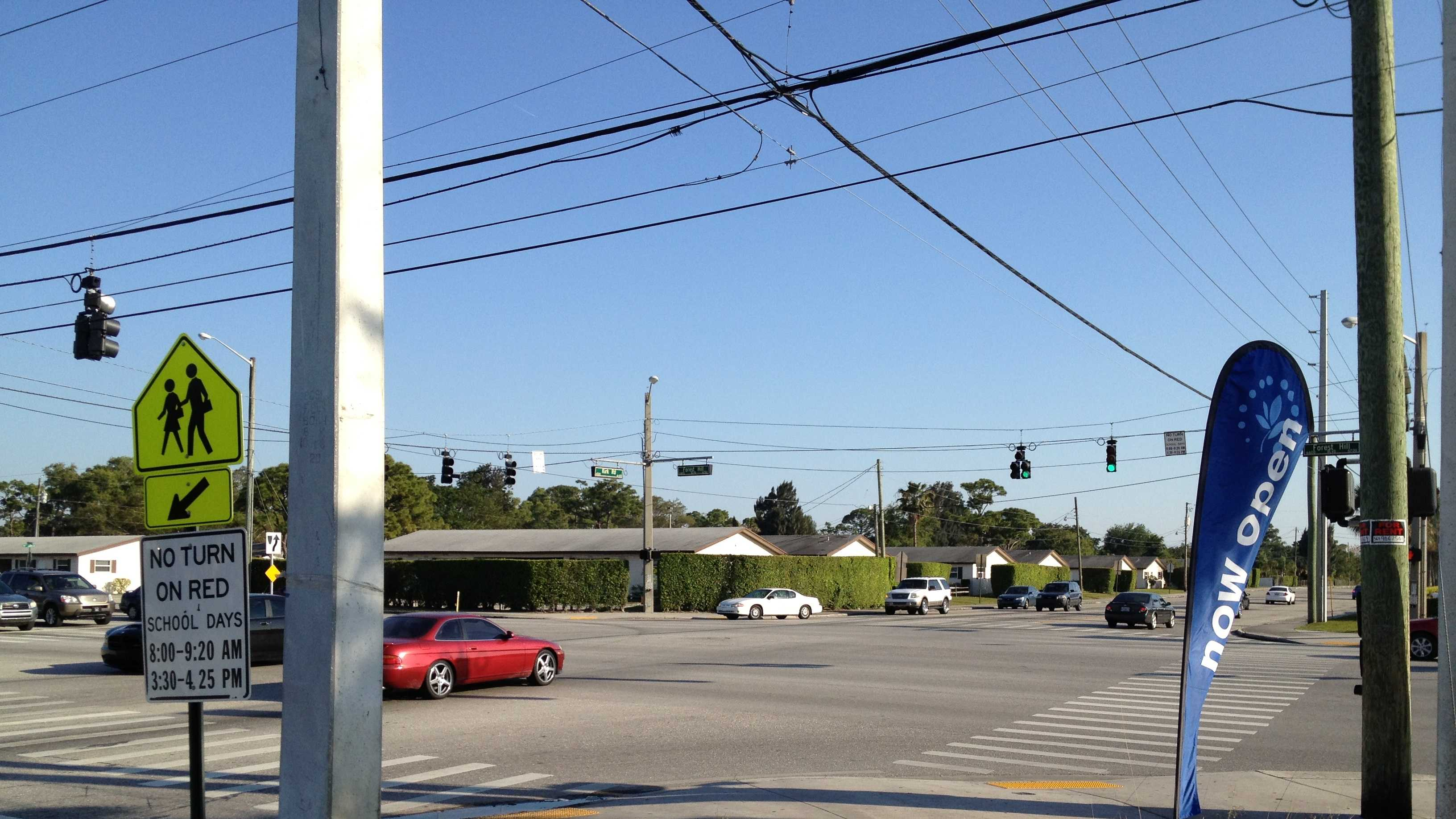 Intersection where boy struck by vehicle