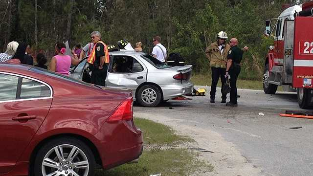 Several people were taken to area hospitals after a crash in Loxahatchee on Sunday afternoon. (Photo: Felicia Rodriguez/WPBF)