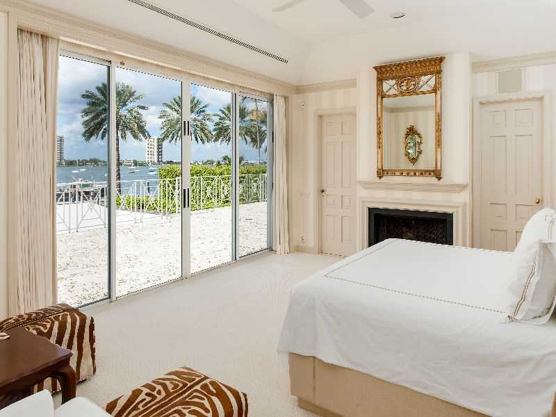 Great ocean views from this bedroom's floor to ceiling windows. This room is one of 7 bedrooms.