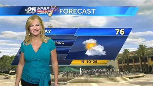 Sandra says after a cool start, a pleasant Wednesday is on tap around the Palm Beaches.