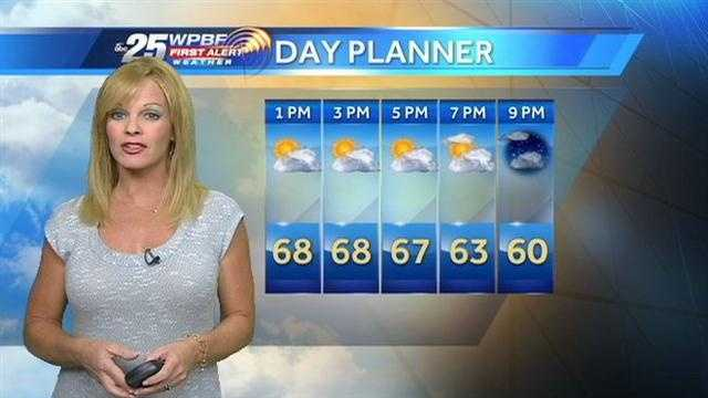 Sandra says a sunny Thursday is on tap but temperatures might not even reach 70 degrees.