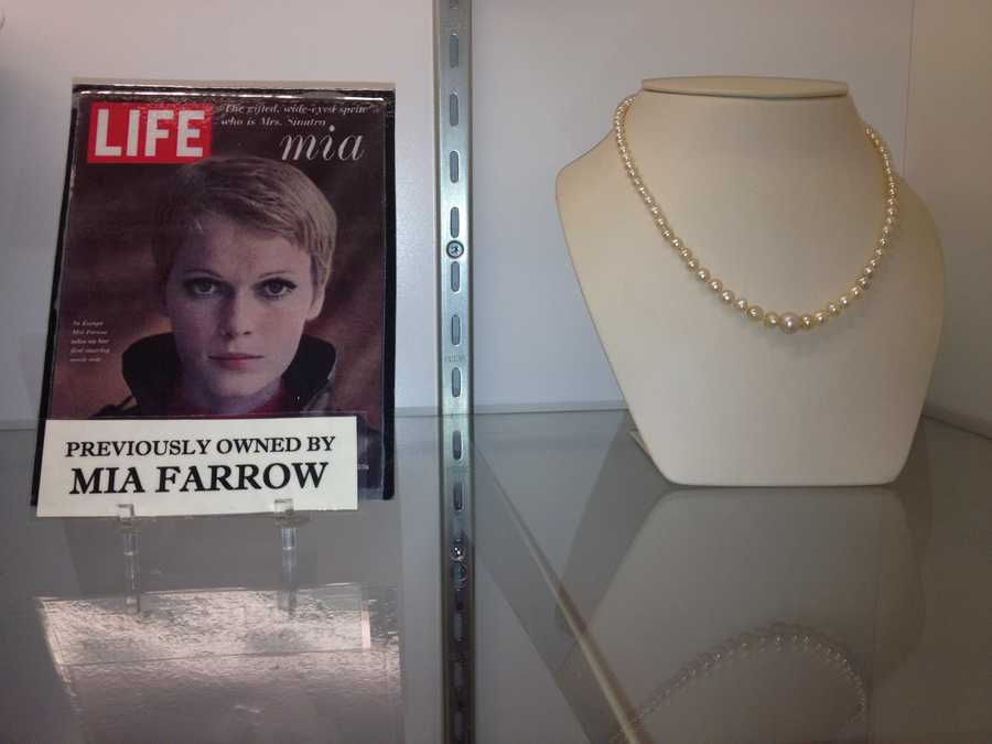 """""""Rosemary's Baby"""" actress Mia Farrow, who was featured on a 1967 cover of Life magazine, once owned this necklace."""