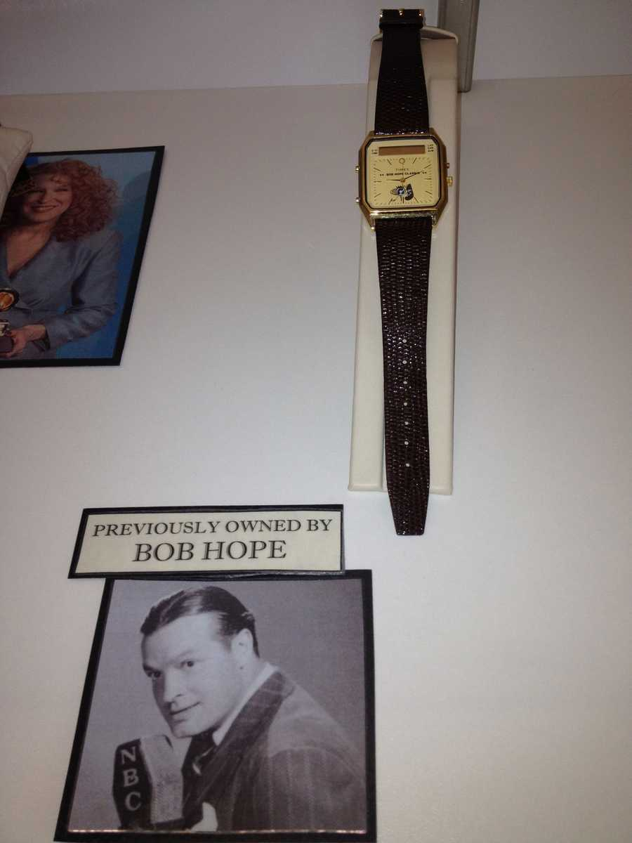 Late comedian Bob Hope, who hosted the Academy Awards a record 18 times, once owned this wrist watch.