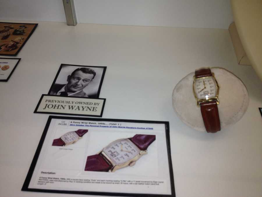 Wayne, who became an iconic archetype of the western hero, also owned this wrist watch.
