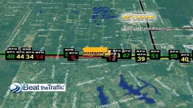 School bus collision map