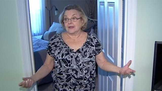 Carol Hebeeb awoke to a crashing sound early Friday morning and when she went to take a look, she was terrified to come face to face with a flashlight-wielding intruder in her living room.