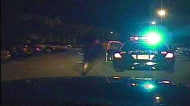A 2012 shootout between officers and a suspect was caught on police dash cam video and just released Monday. The suspect ended up being shot dead in the encounter with West Palm Beach police officers.