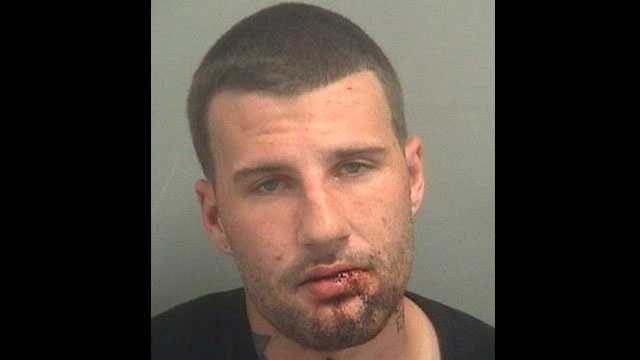 Patrick Gelardi is accused of running into a concrete post after stealing a phone from an AT&T store in Boynton Beach.