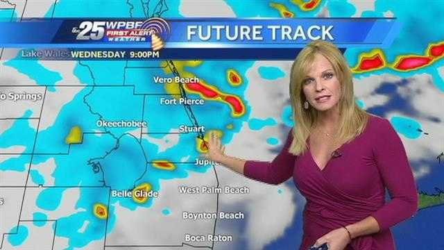Sandra says some afternoon showers are likely around town Wednesday, and things could possibly get severe at night.