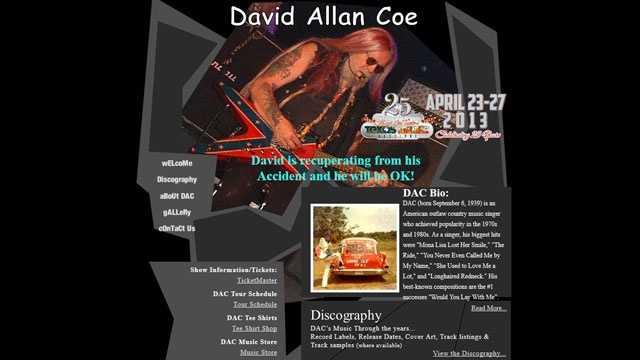 David Allan Coe website