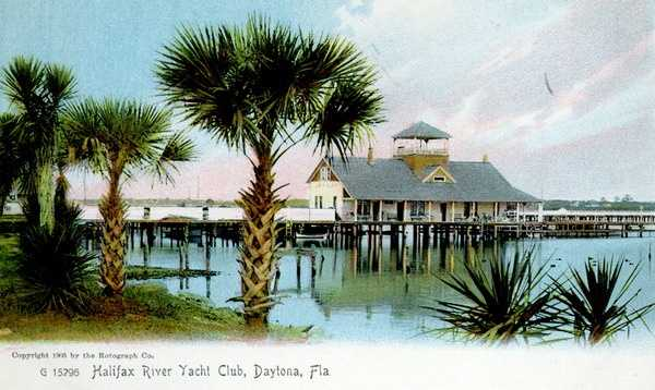 The Halifax River Yacht Club in 1905.  It was located in Daytona Beach.
