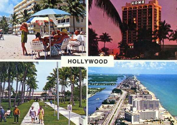 Hollywood shown in the 1970s.