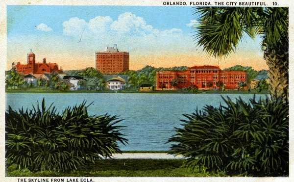 Another undated postcard shows the Orlando skyline.