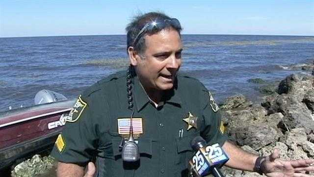 Martin County Sheriff's Office Sgt. John Perez explains what prompted him and another deputy to jump into Lake Okeechobee and save a father and son whose boat was taking on water.