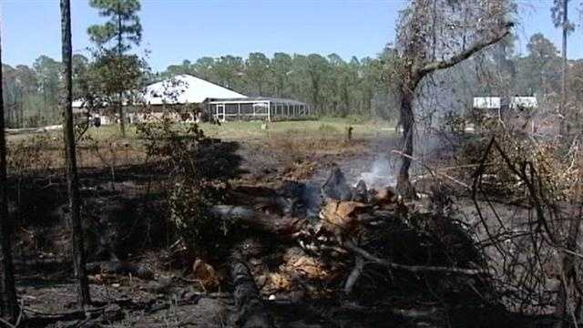 About 200 acres of land has been scorched after a massive brush fire in Fort Pierce.