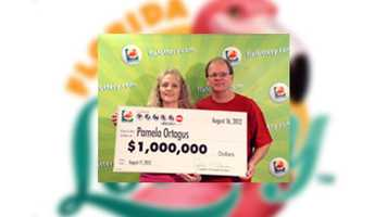 Pamela Ortagus, of Polk City, won $1 million.