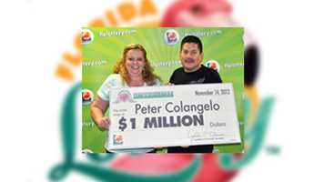 Peter Colangelo, of Deland, claimed a $1 million prize in the 25th Anniversary Edition Millionaire Scratch-Off game.