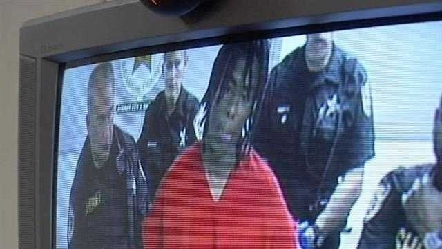 Eriese Tisdale appears before a judge for his second bond hearing after being indicted on a charge of first-degree murder.