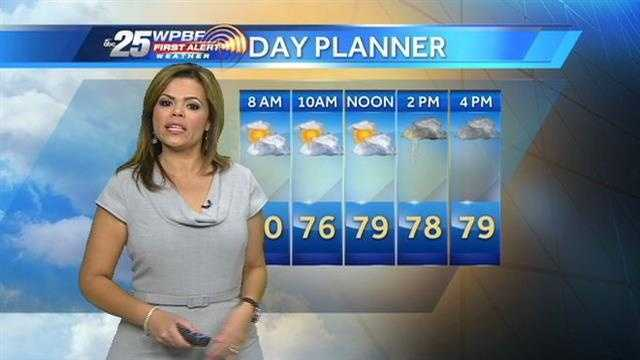 Felicia says showers are back in the forecast after a pleasant holiday weekend.