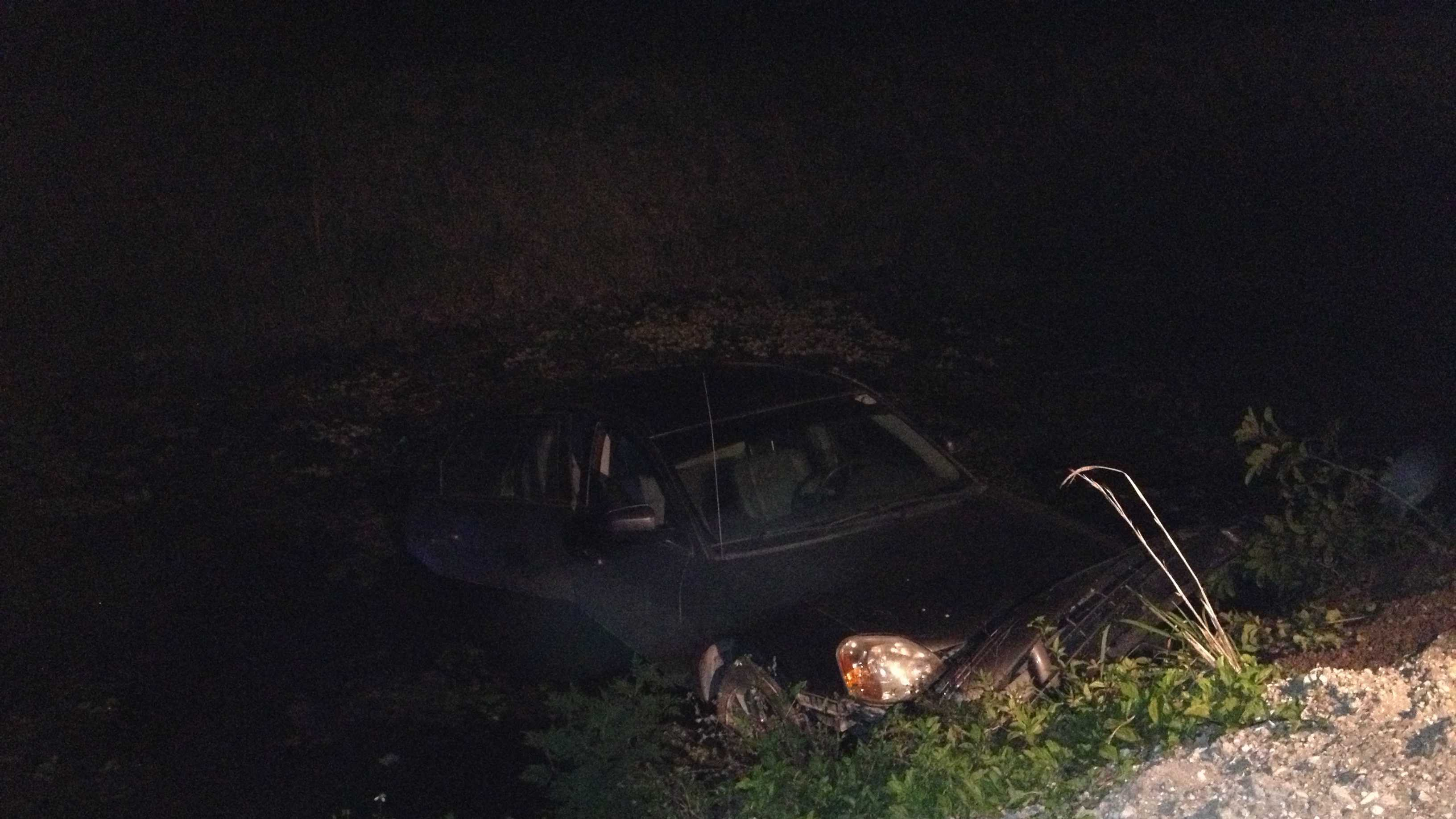 This car somehow landed in a canal in Loxahatchee, but both women inside were able to get out safely.