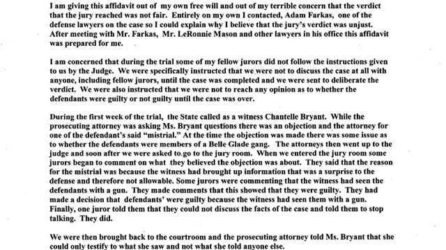 Juror letter blurb