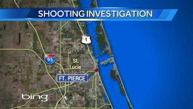 Three people were taken to the hospital after being shot Saturday in Fort Pierce.