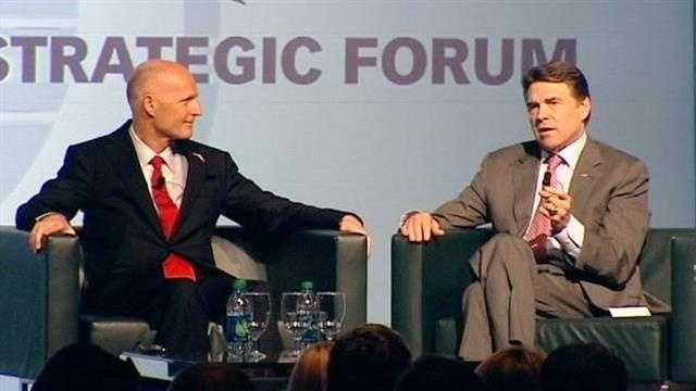 Rick Scott, Rick Perry discuss attracting businesses to states