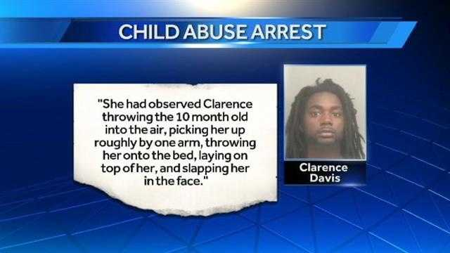 A 10-month-old girl was beaten so badly that she was rushed to a hospital and her father is now behind bars, facing an abuse charge.