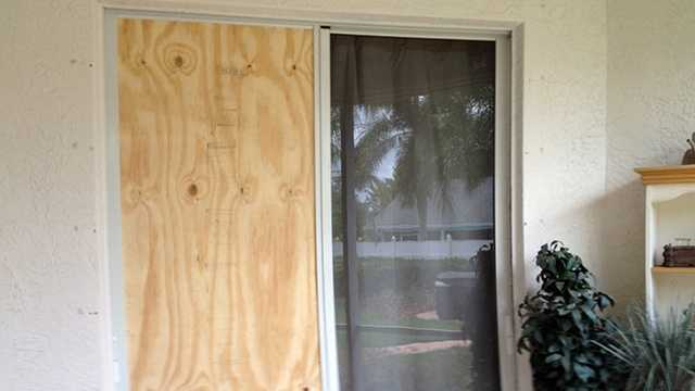 A homeowner in Port St. Lucie had to fix his back door after a burglar broke into his home.