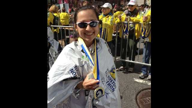 Lilia Drew finished the Boston Marathon 40 minutes before the explosions occurred.