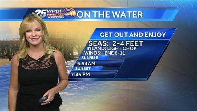Sandra says a seasonable Wednesday is on tap around the Palm Beaches, with a high temperature in the low to mid 80s.
